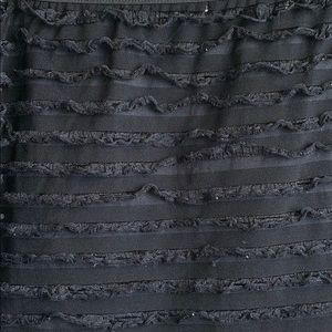 L8teR Skirts - Plus size black shredded mini skirt